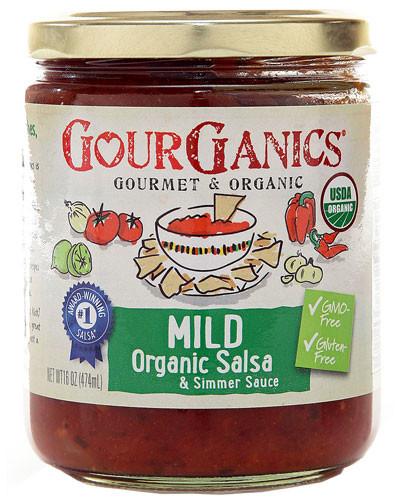 Gourganics mild salsa jar